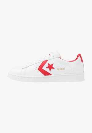 PRO LEATHER - Matalavartiset tennarit - white/universtiy red