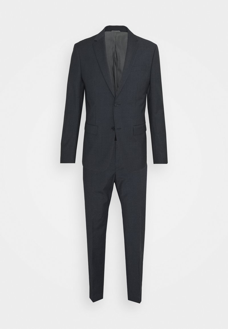 Calvin Klein Tailored - SHADOW GRID EXTRAFINE SUIT - Suit - blue