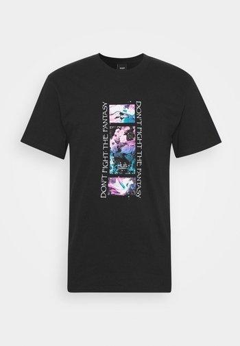 NATURAL HIGH TEE - Print T-shirt - black