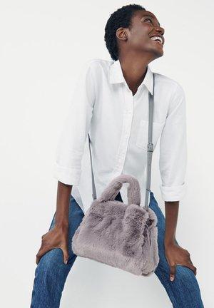 WITH TOP HANDLE - Across body bag - grey