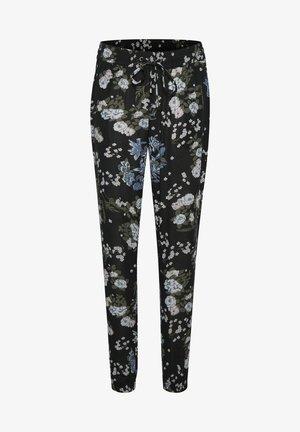 Tracksuit bottoms - black multi color flower print