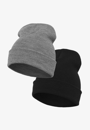 YUPOONG 2 PRE-PACK  - Beanie - black/h.grey