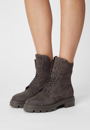 Lace-up ankle boots - shadow