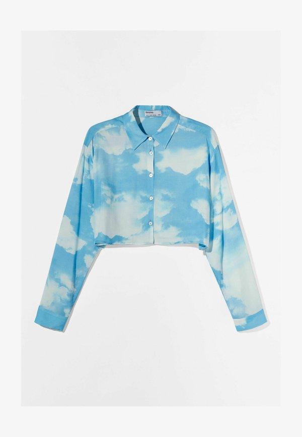 Bershka Koszula - light blue/jasnoniebieski SNWN