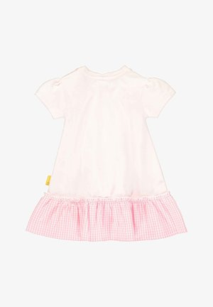 STEIFF COLLECTION KLEID MIT KARO-MUSTER - Jersey dress - barely pink
