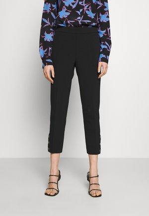 SIDE SNAP PANT - Spodnie materiałowe - black
