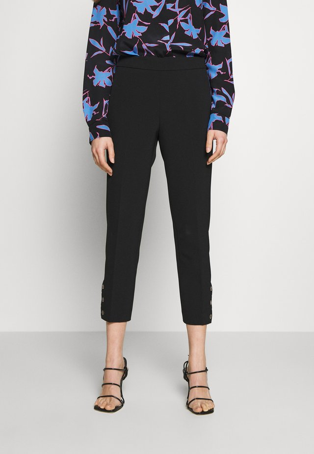 SIDE SNAP PANT - Trousers - black