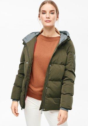 MIT LAYER-EFFEKT - Winter jacket - olive