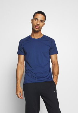 STRUCTURED TEE - Jednoduché triko - steady blue