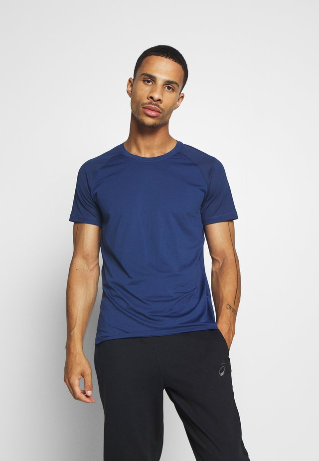 STRUCTURED TEE - Basic T-shirt - steady blue