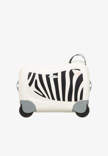 ZUM DRAUFSITZEN - Wheeled suitcase - off-white/black