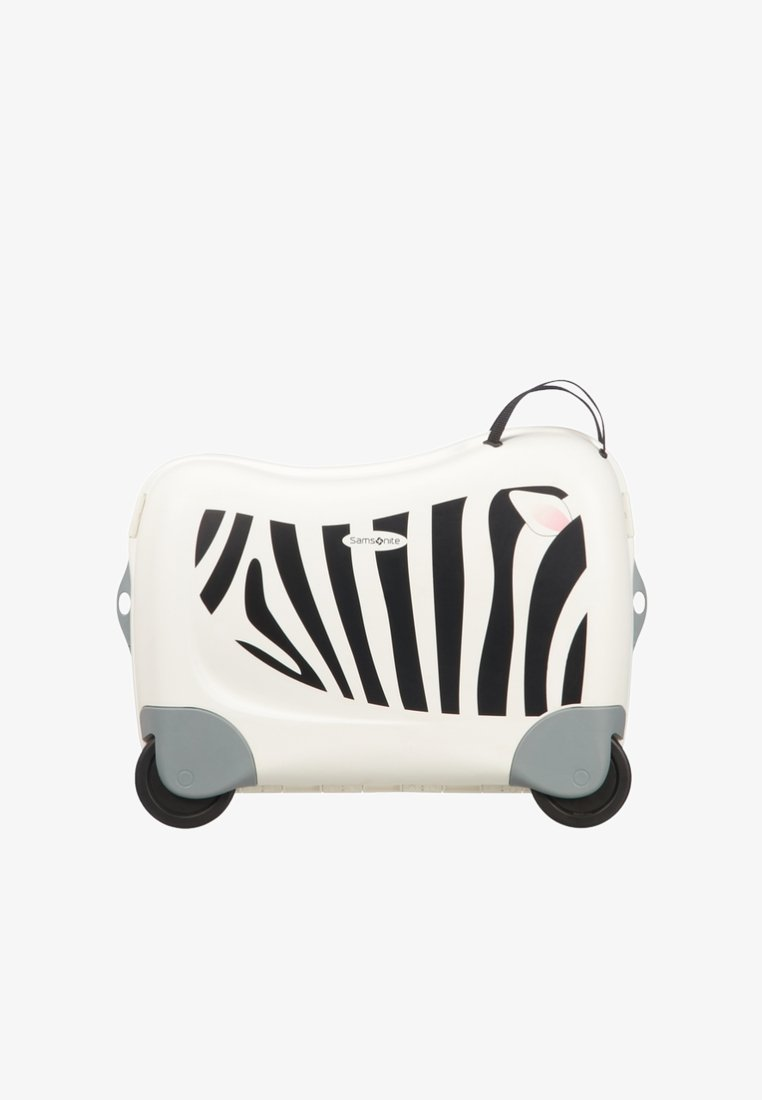 Samsonite - ZUM DRAUFSITZEN - Wheeled suitcase - off-white/black