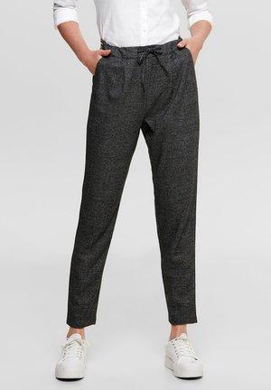 KARIERTE POPTRASH - Trousers - dark grey melange