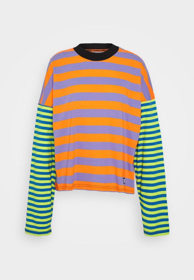 MIX STRIPE SKATER - Long sleeved top - multi