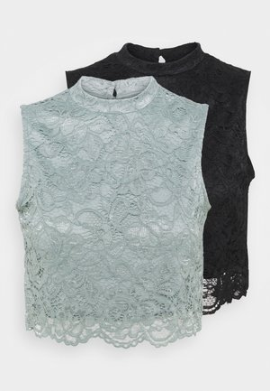 2 PACK  - Top - black/grey