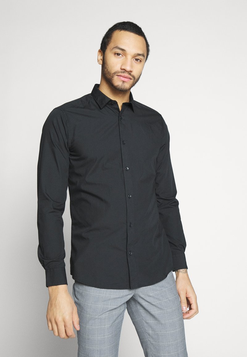 Only & Sons - ONSSANE SOLID POPLIN - Shirt - black