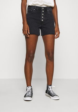SHANK - Denim shorts - black