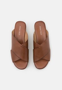 Anna Field - LEATHER - Heeled mules - cognac - 5