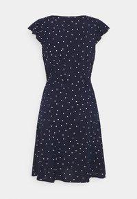 Anna Field Petite - VOLANT BELT DRESS - Sukienka letnia - dark blue/white - 1