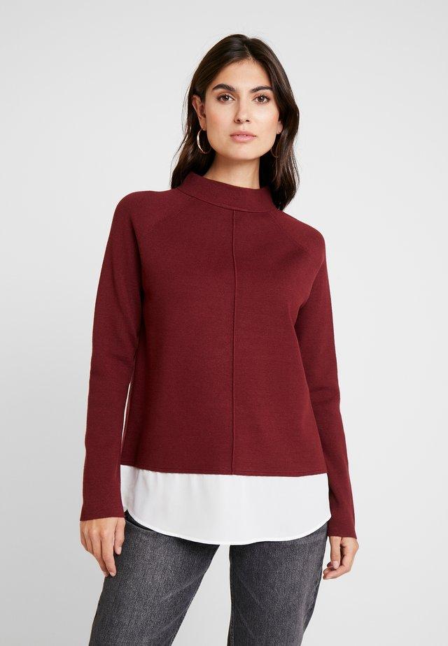 Strickpullover - burgundy