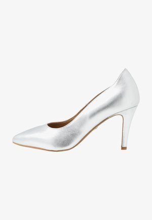 High Heel Pumps - silver