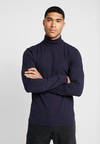 Only & Sons - ONSESSAY ROLLNECK TEE - Long sleeved top - night sky - 0