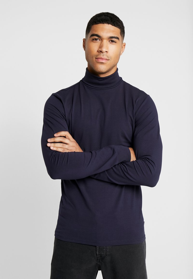 Only & Sons - ONSESSAY ROLLNECK TEE - Long sleeved top - night sky