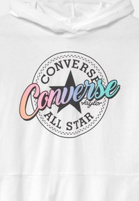 Converse - RELAXED PEPLUM HOODIE - Kapuzenpullover - white - 2