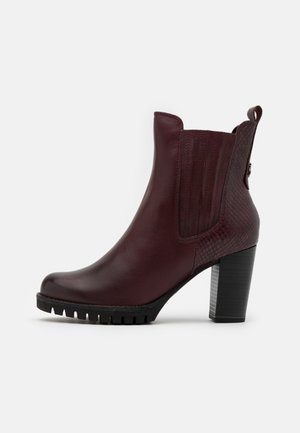 BOOTS - High heeled ankle boots - bordeaux