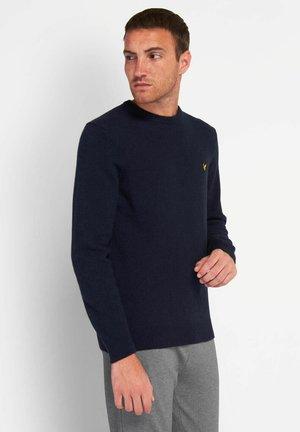 Stickad tröja - dark navy marl