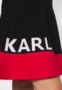 KARL LAGERFELD - COLORBLOCK SKIRT - Áčková sukně - black - 6