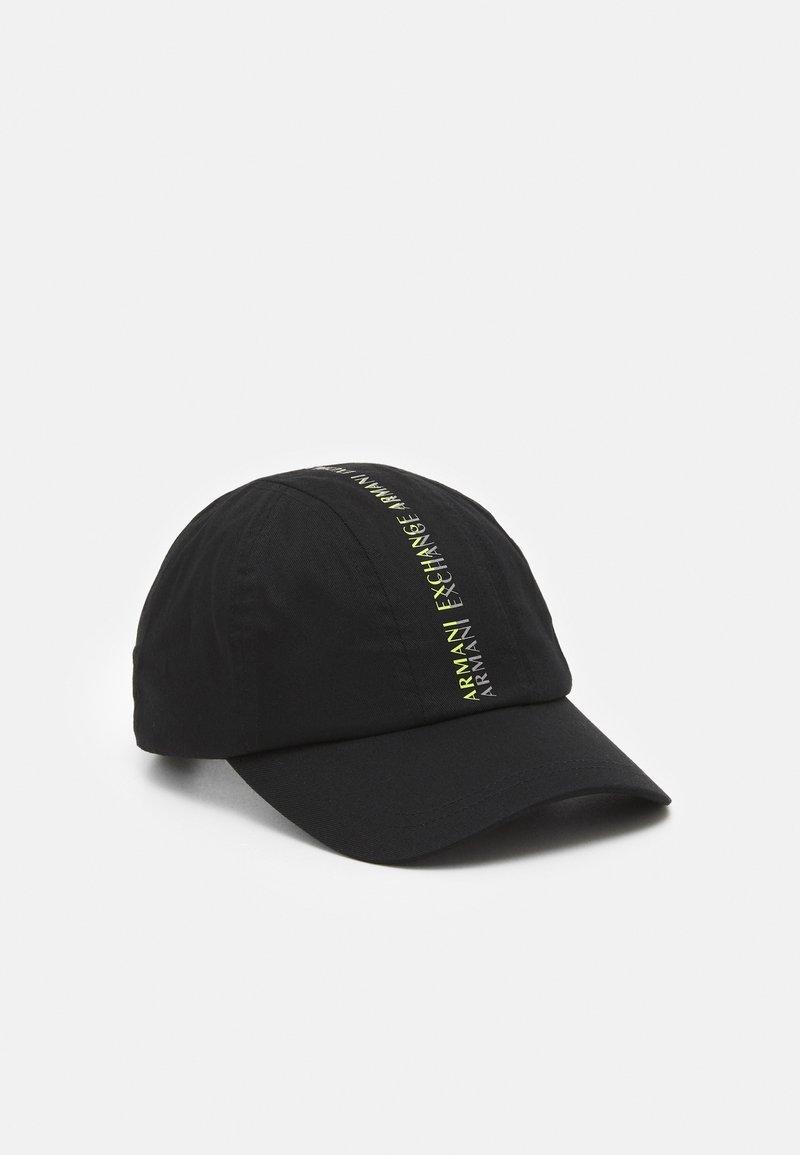 Armani Exchange - BASEBALL CENTRAL PRINT   - Cap - black