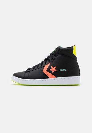 PRO UNISEX - High-top trainers - black/lemon/white