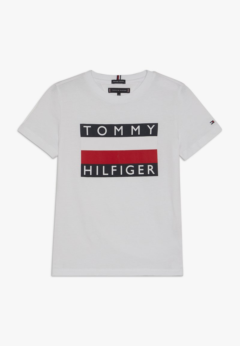 Tommy Hilfiger - ESSENTIAL TEE - Camiseta estampada - white