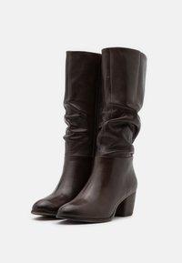 Steven New York - JOSIE - Vysoká obuv - dark brown - 2