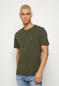 Calvin Klein - LOGO 2 PACK - T-shirts basic - olive/mottled light grey - 2