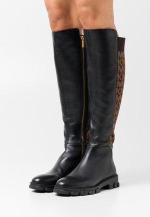 RIDLEY BOOT - Overknee laarzen - black/brown