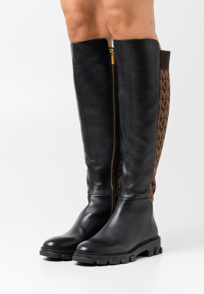 MICHAEL Michael Kors - RIDLEY BOOT - Over-the-knee boots - black/brown
