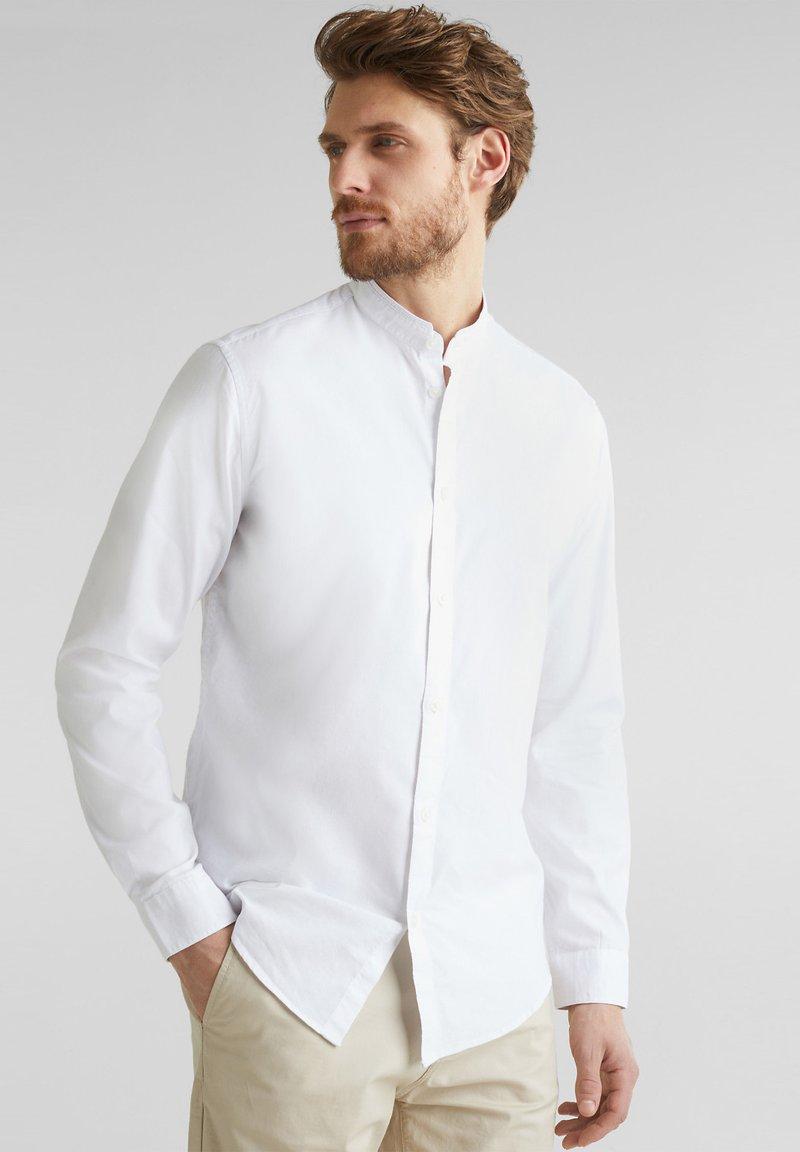 Esprit - MIT STEHKRAGEN - Shirt - white