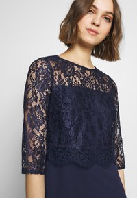 Dorothy Perkins - SCALLOPED DETAIL SKATER - Shift dress - navy