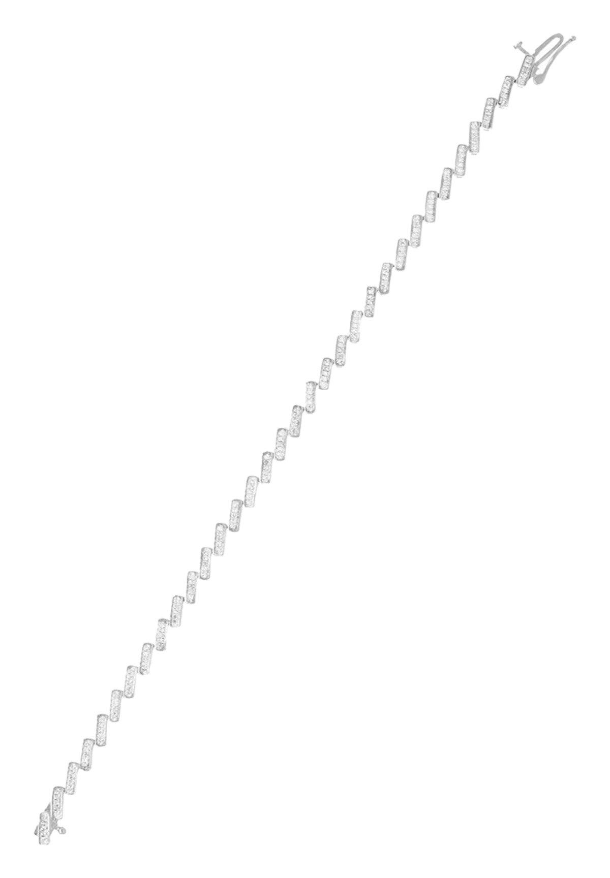 Damen 9K WHITE GOLD BRACELET  CERTIFIED 165 DIAMONDS HP1 0.5 CT - Armband
