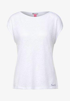 IM LEINEN LOOK - Basic T-shirt - weiß