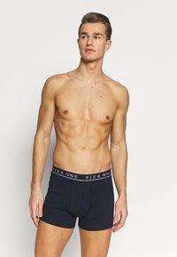 Pier One - 5 PACK - Panties - dark blue/mottled grey - 1