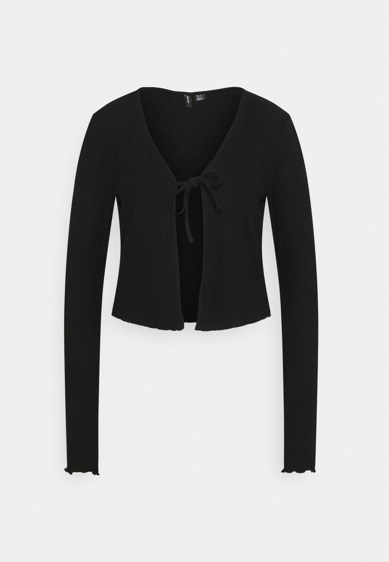 Vero Moda Tall - VMRILEY CROP CARDIGAN - Vest - black
