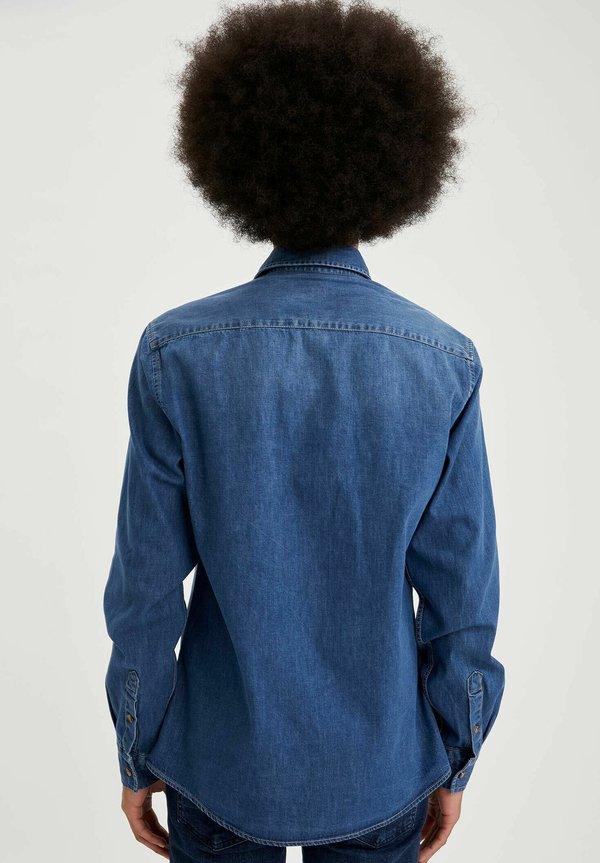 DeFacto Koszula - blue/niebieski denim Odzież Męska FHJQ