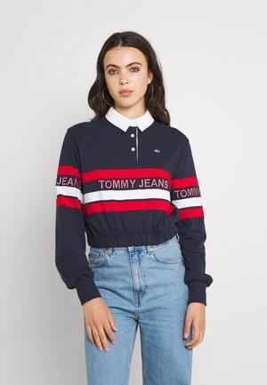 CROP RUGBY - Sweatshirt - twilight navy/multi