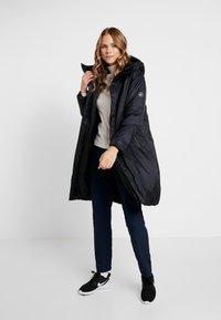 Cross Sportswear - HIGHLOFT COAT - Płaszcz zimowy - navy - 1