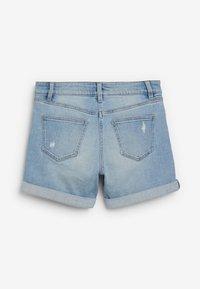 Next - Denim shorts - mottled blue - 1