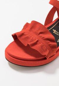 Tamaris - Platform sandals - flame - 2