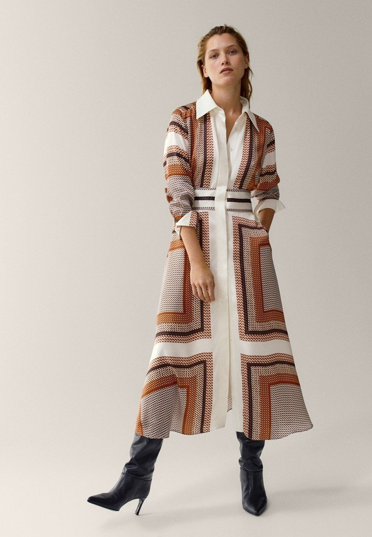 Massimo Dutti - Robe longue - orange